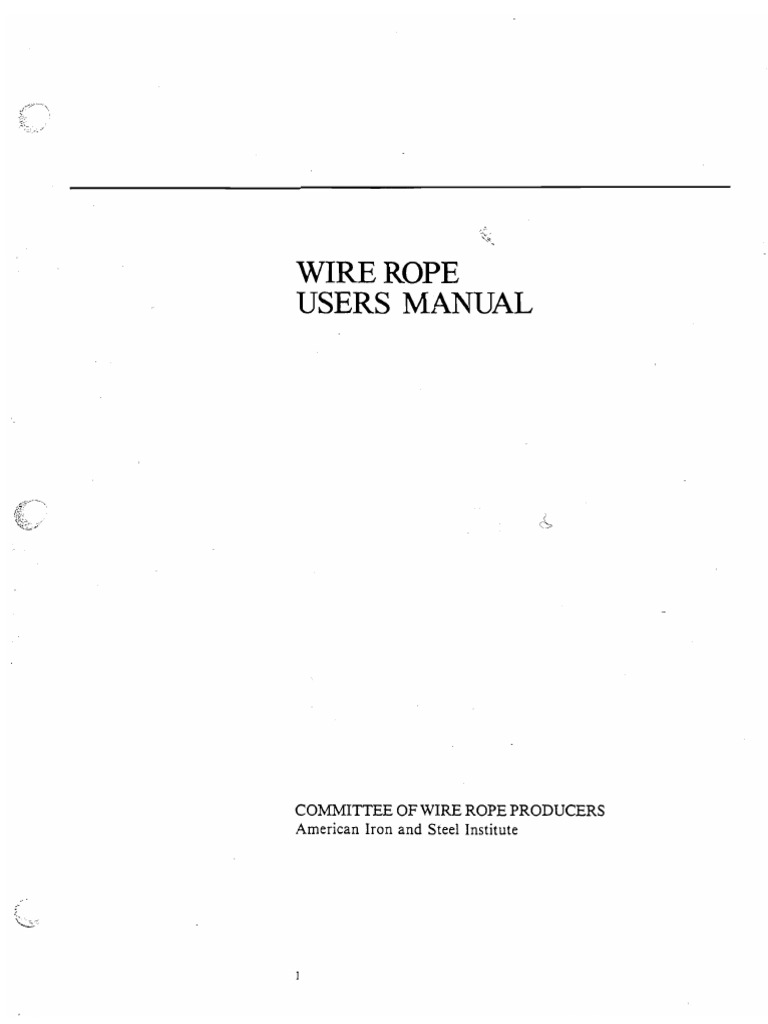 Wire-Rope-User-s-Manual-AIS.pdf | Rope | Wire