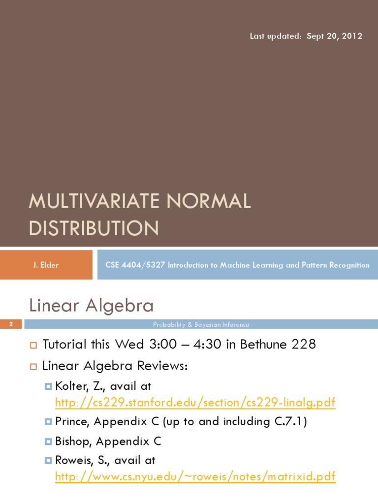 03 Multivariate Normal Distribution | Pattern Recognition