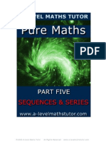 E-Book 'Pure Maths Part Five - Sequences & Series' from A-level Maths Tutor