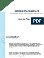 Organizational Management - Selaiman Noori