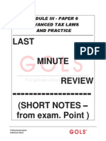 Advance Tax-last Minute Revision Notes