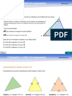 I Triangoli e i Criteri Di Congruenza