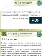 Tesis de Metodologia Para Un Sofware Educativo