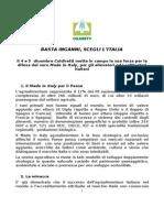 Documento mobilitazione Coldiretti Brennero 4 dicembre 2013