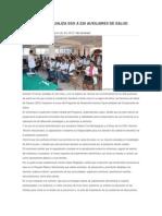 03/12/13 Semanarioevidencias en El Istmo Actualiza Sso a 226 Auxiliares de Salud Comunitarios