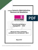 Manual de Critica Certificados de Nacidos Vivos y de Defuncion