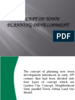 concept of town planning development