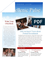 Hanover College Panhellenic Pulse - November 2013 Issue