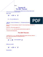 Teorema 32 .the 32th Theorem