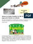 Abono do Bolsa Família de R$ 32 começa ser pago pelo Estado no sábado