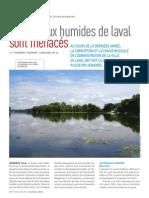 Les milieux humides de Laval sont menacés