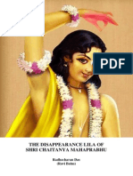The Disappearance of Shri Chaitanya Mahaprabhu Paper