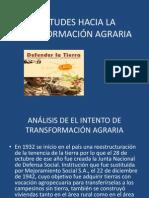 Actitudes hacia la Transformación Agraria Grupo 11