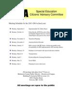 SECAC Meeting- Topics Flyer Color Printing