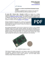 e-con Systems announces Computer on module running Windows Embedded Compact 2013, Boots in less than a second