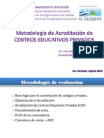 Entrega Tecnica de Instructivo y Manual de Acreditacion de Cep