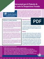 Factsheet Convencion Desapariciones Forzadas