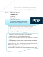 Group Arrangements in classroom teaching