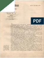 Circolare 20 Marzo 1856, n. 15 Intendenza Generale Di Sassari