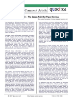 The Green Print for Paper Saving