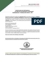 Certificado Pertenencia OrgoCultura ATE