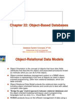 Ch22 - Object-Based Databases -RDBMS