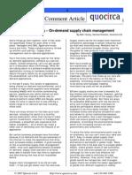 On-demand supply chain management