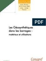 Les Géosynthétiques dans les barrages