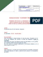 Oferta Tabara Bansko 2013