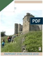 Rapport d'activités Renaissance du Château de Portes 2010