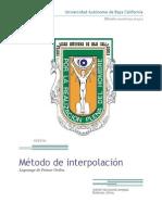 Metodos Numericos Interpolacion Lagrange