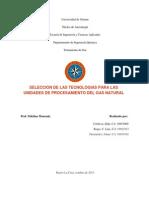 Tecnologias en Procesamiento de Gas