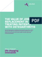 The Value of Joint Replacement in Treating Patients with Osteoarthritis