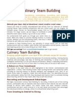 Culinary Team Building Brochure