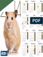 Calendário 2014 Hamster