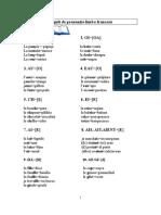reguli de pronuntie in limba franceza