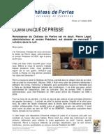 Décès de l'ancien Président de RCP Pierre Légal