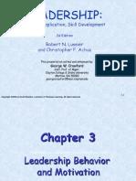 Ch03 Leadership Behavior and Motivation