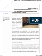 04-12-13 BOLETÍN-829 Aprueba Senado nombramientos de embajadores y cónsules propuestos por el Ejecutivo