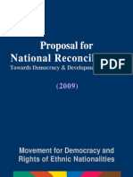 Proposal for National Reconciliation 1