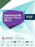 StartmeupHK Venture Forum 2013 Booklet