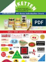Schröder Packfix - Etiketten 2009