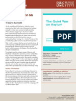 Media Release for 'The Quiet War on Asylum' by Tracey Barnett
