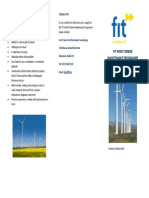 FIT WInd Turbine Maintenance Program