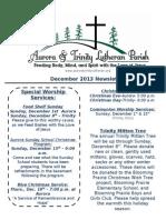 Aurora-Trinity Newsletter Dec13