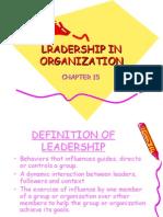 Lecture Lradership in Organization