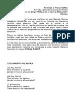 Poemas a Franz Kafka ANTOLOGÍA