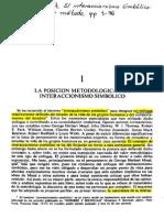 Blumer - La Posición Meotodológica del Interaccionismo Simbólico