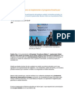 02-12-2013 Puebla Noticias - Puebla estado pionero en implementar el programa Enseña por México