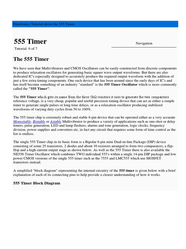Tutorial Timmer 555 Electrical Engineering Electronic Monostable Examples